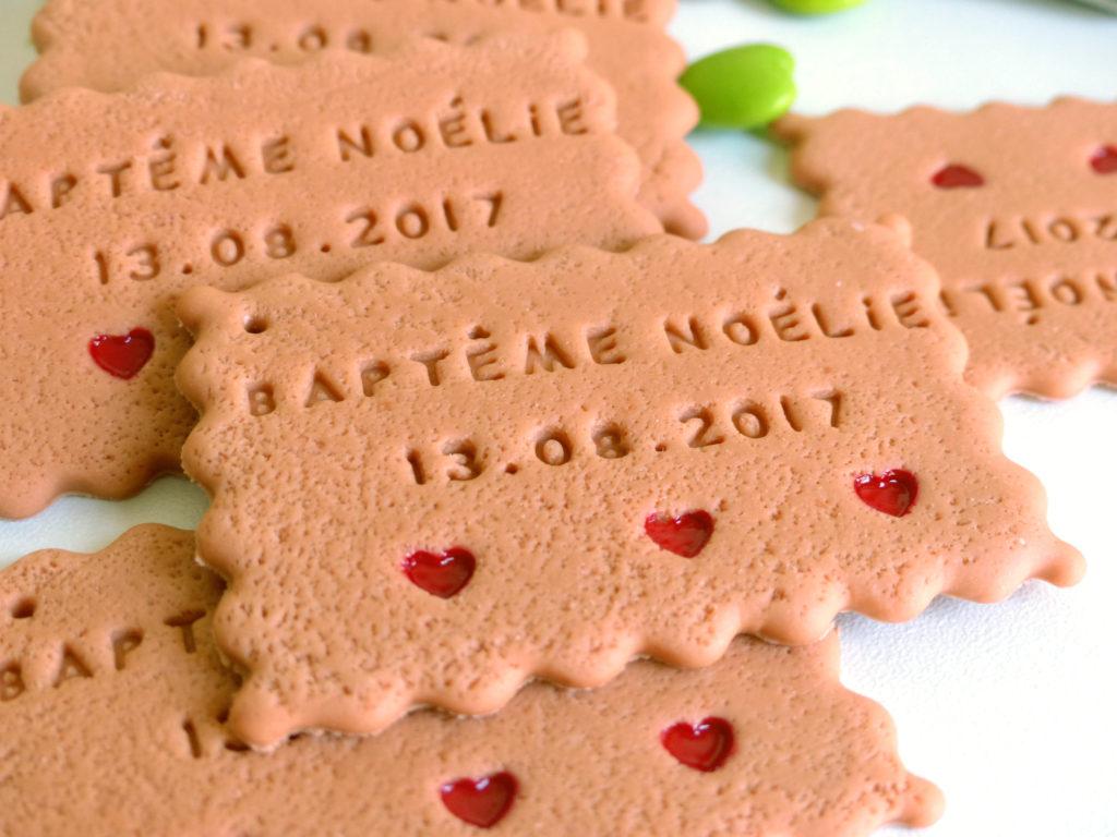 biscuit cadeau invité bapteme