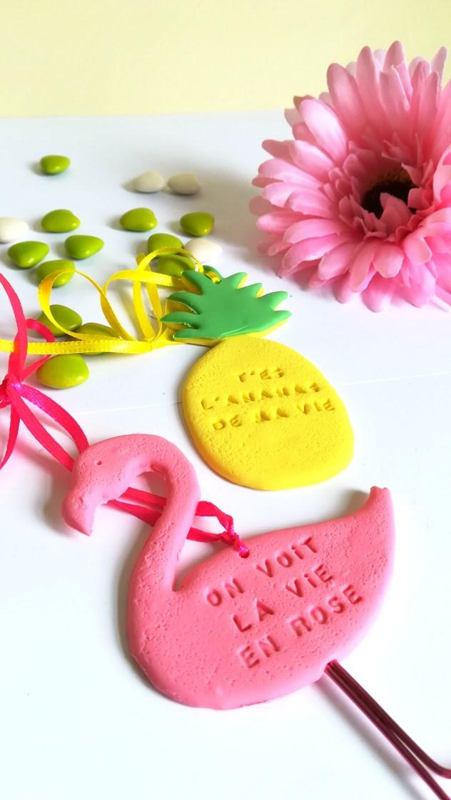 mariage tropical, flamingo, cadeau invité