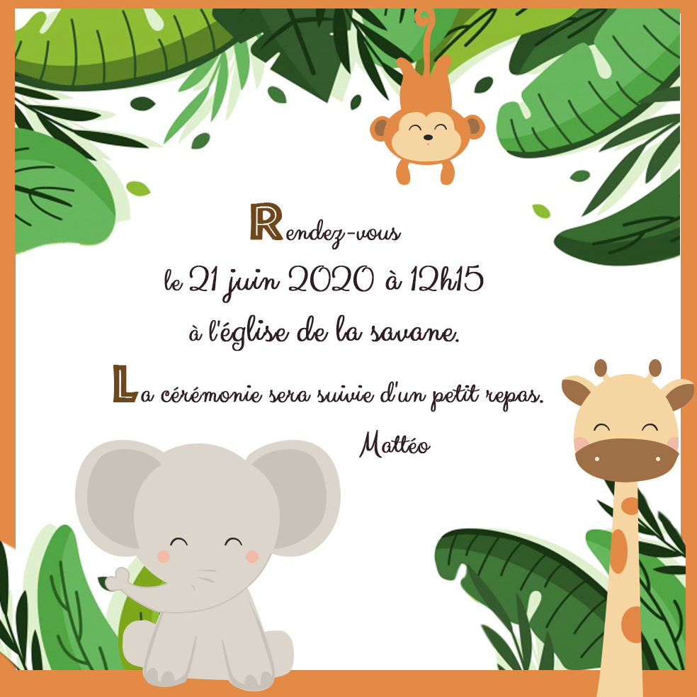 faire-part-jungle-elephant-girafe-singe
