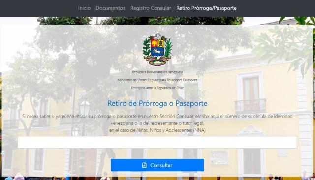 Portal para consultar retiro de prórroga de pasaporte