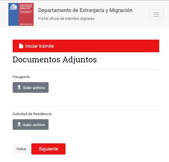 Solciitud de visa en tramite Chile