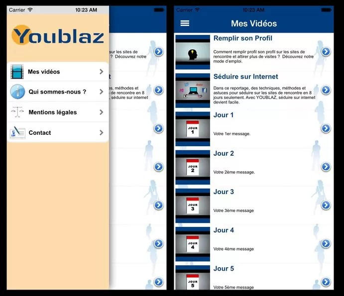 YouBlaz - Apercu Interface