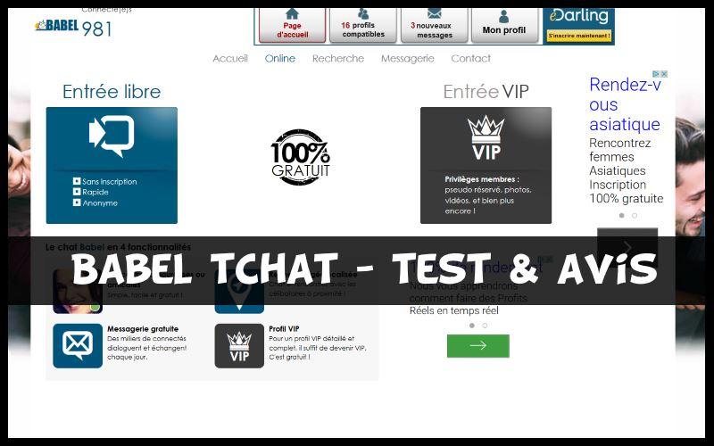 Babel tchat - Test & Avis