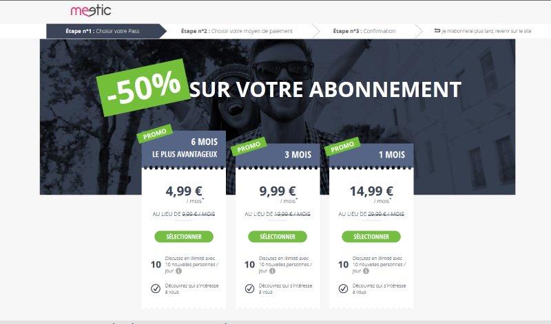 promo meetic 50% de réduction - abonnement pas cher