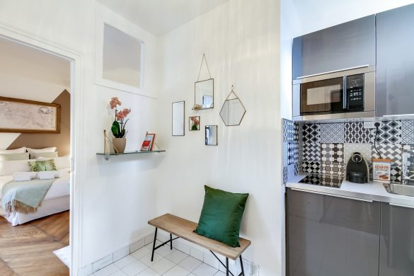 A Parisian holiday apartment in the Marais: a studio designed like a cocoon