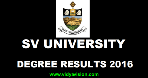 SV University Degree Results November 2016