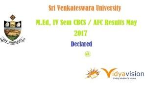 SVU M.Ed Results 2017