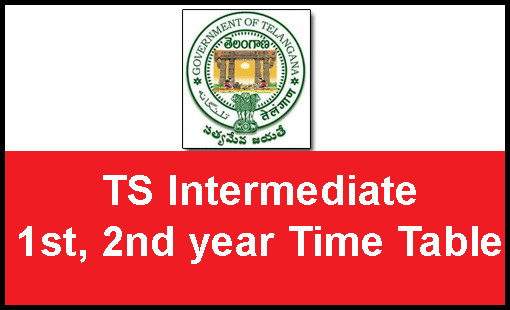 TS Intermediate Time Table