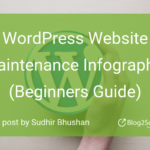 WordPress Website Maintenance Infographic