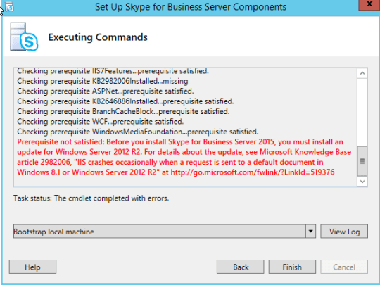 download and install the skype for business online connector module