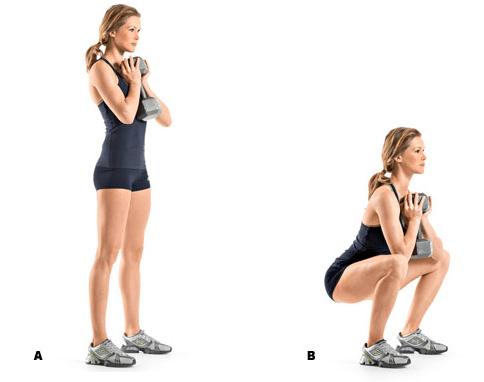 Goblet squat example