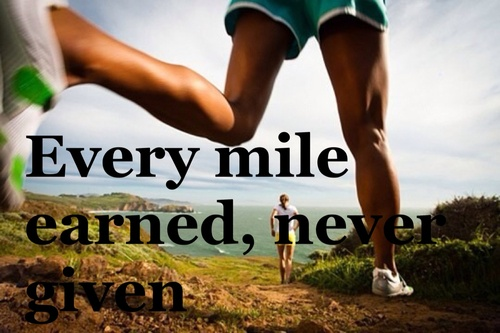 Every mile earned not given