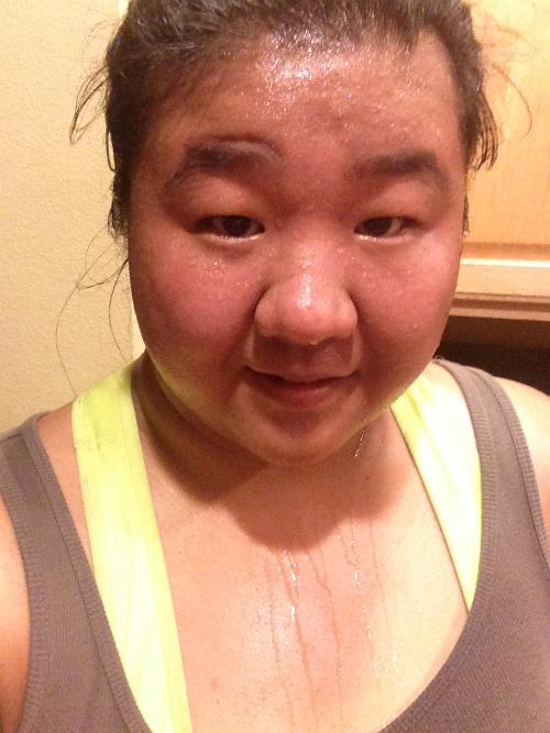 Sweaty Kristina