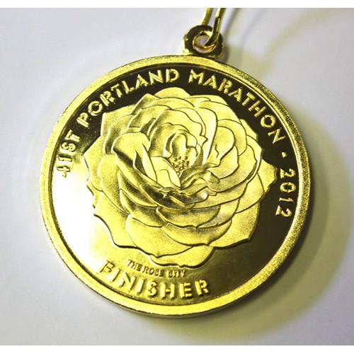 portland marathon finisher medal 2012