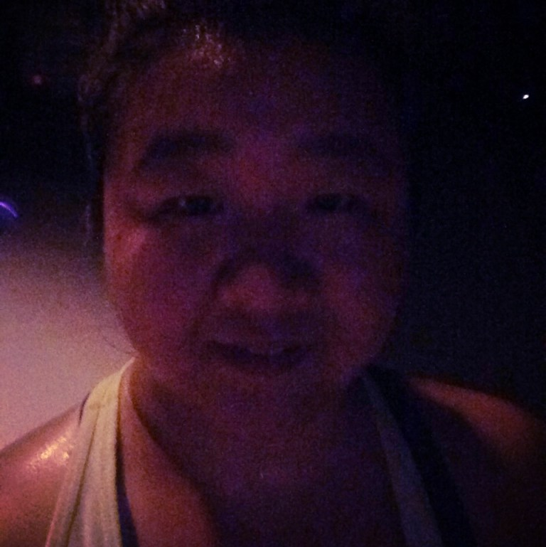 Me running at night