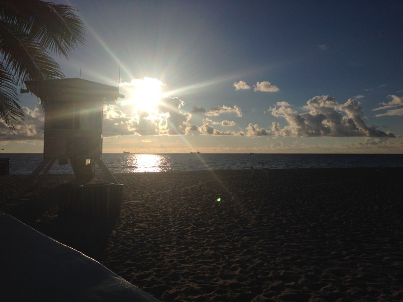 Sunrise over Fort Lauderdale beach at Las Olas