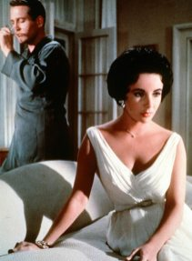 Junto a Elizabeth Taylor en A Cat on a Hot Tin