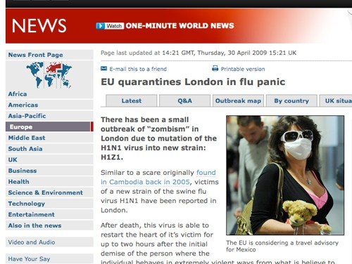 Hablando de gripe y zombies…