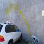"""Banksy """"marca"""" las paredes de Los Ángeles"""