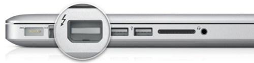Parece un Mini DisplayPort pero es en realidad Thunderbolt
