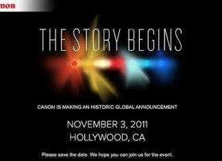La invitación de Canon al evento de esta tarde