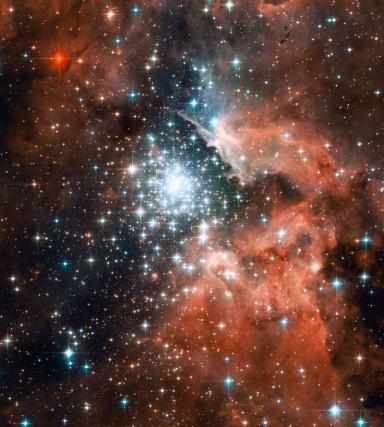 La nebulosa NGC3603 si trova a 20.000 anni luce dalla Terra (photo credit: hubblesite.org)