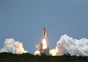 Il lancio dello Space Shuttle Atlantis (credit: NASA.gov)
