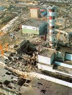 Ciò che resta del reattore di Chernobyl