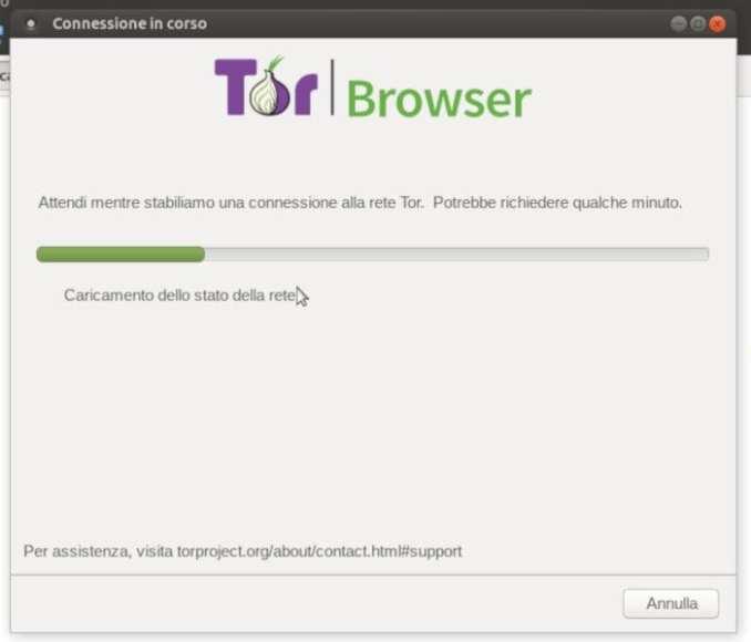 Avvio Tor Browser