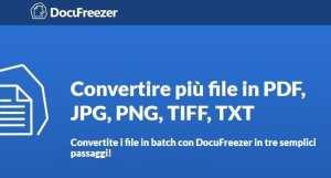 Convertire più file in PDF, JPG, PNG, TIFF, TXT