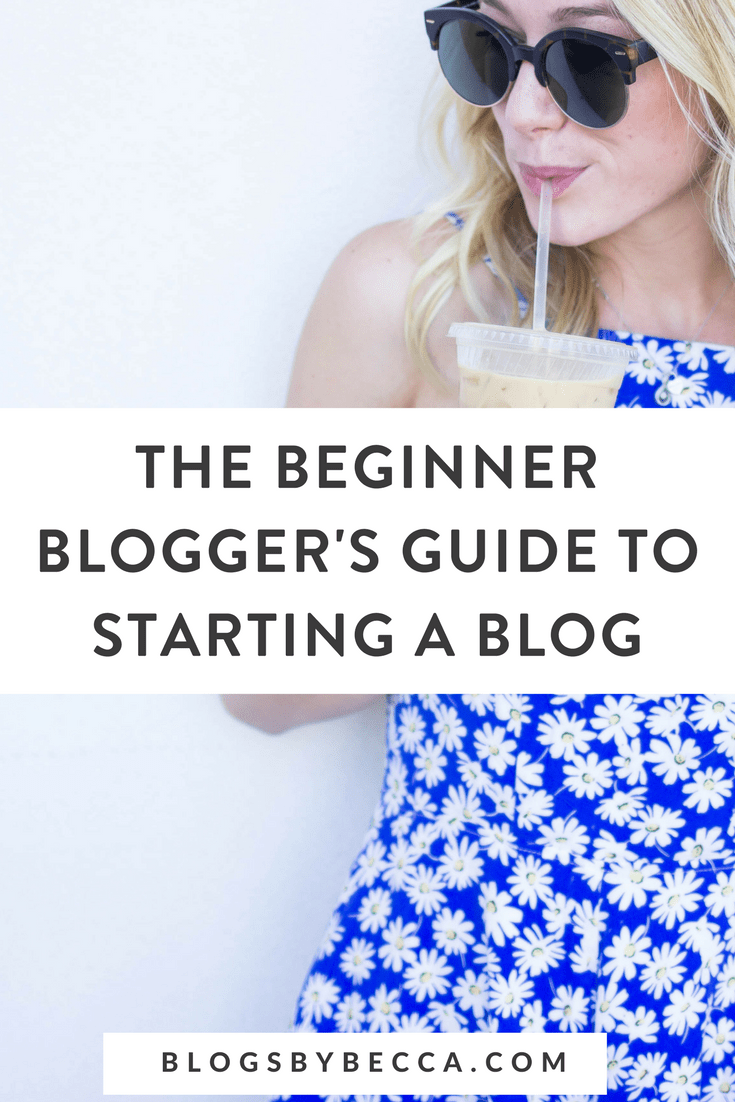 The Beginner Blogger's Guide to Starting a Blog! Click through to learn blogging tips, social media tips, and more for beginner bloggers! #blogging, #blogtips, #socialmedia, #beginnerblogger