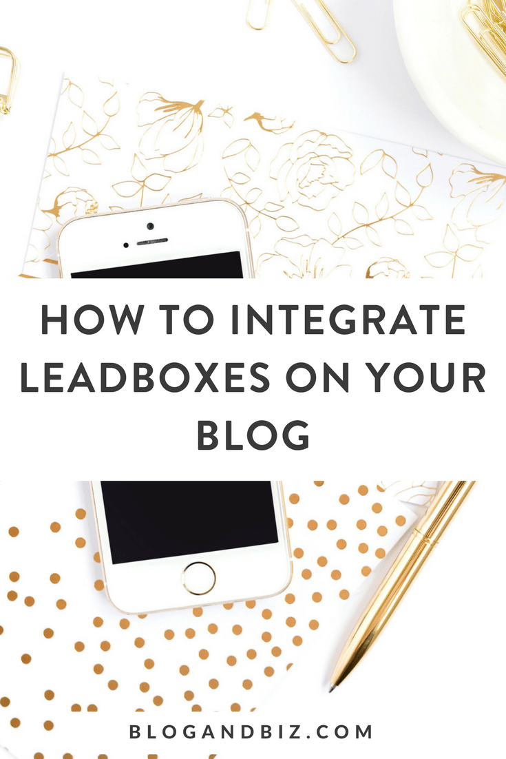 How to Integrate Leadboxes with your blog
