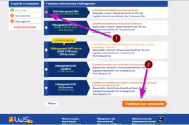 quatrieme etape pour acheter son nom de domaine pas cher chez LWS