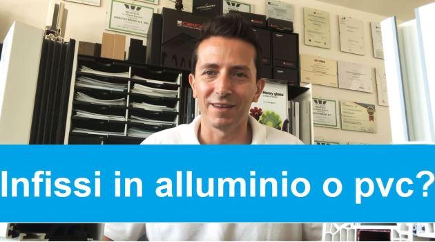infissi in pvc o alluminio