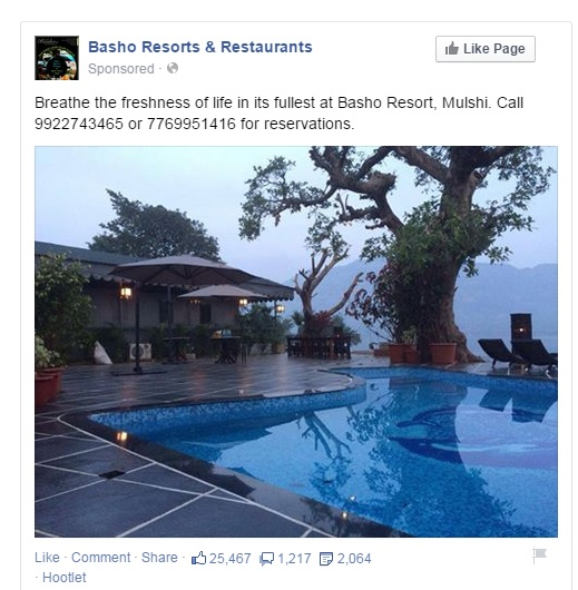 Facebook Ad for Bashos