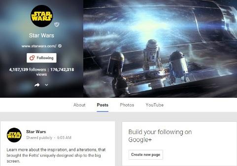 Star Wars Google Community