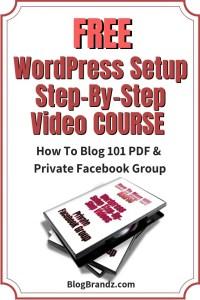 WordPress Setup Step-By-Step Videos