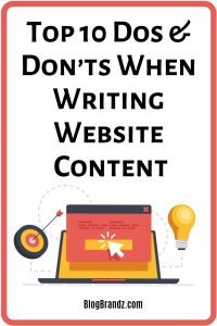 Top 10 Dos And Don'ts When Writing Website Content