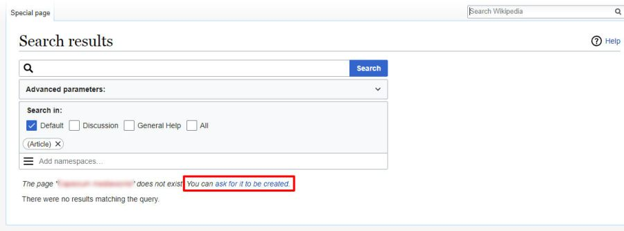 Search Results Wikipedia