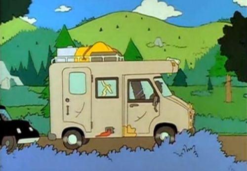 El camping en el cine y la television