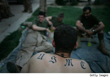 Marines that have large tattoos on their arms are no longer allowed to serve