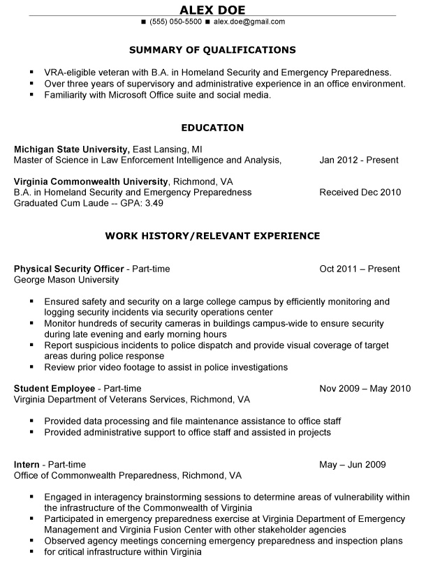military resume examples examples military writers