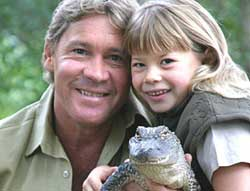 bindi irwin; steve irwin; crocodile hunter