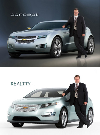 chevy volt concept vs reality car - the truth hurts