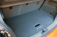 2012 Chevrolet Sonic rear cargo area