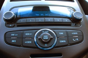 2012 Chevrolet Sonic stereo controls