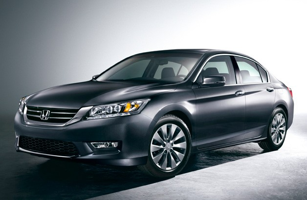 2013 Honda Accord - studio shot - gray - front three-quarter view