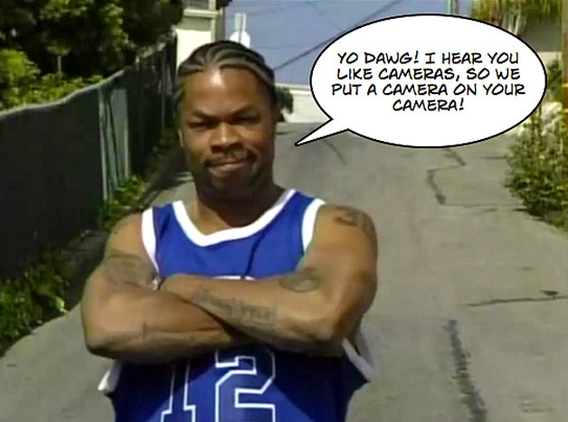 Rapper/Entertainer Xzibit with arms crossed and speech bubble