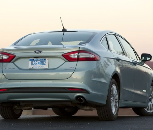 Ford Fusion Hybrid Rear   View