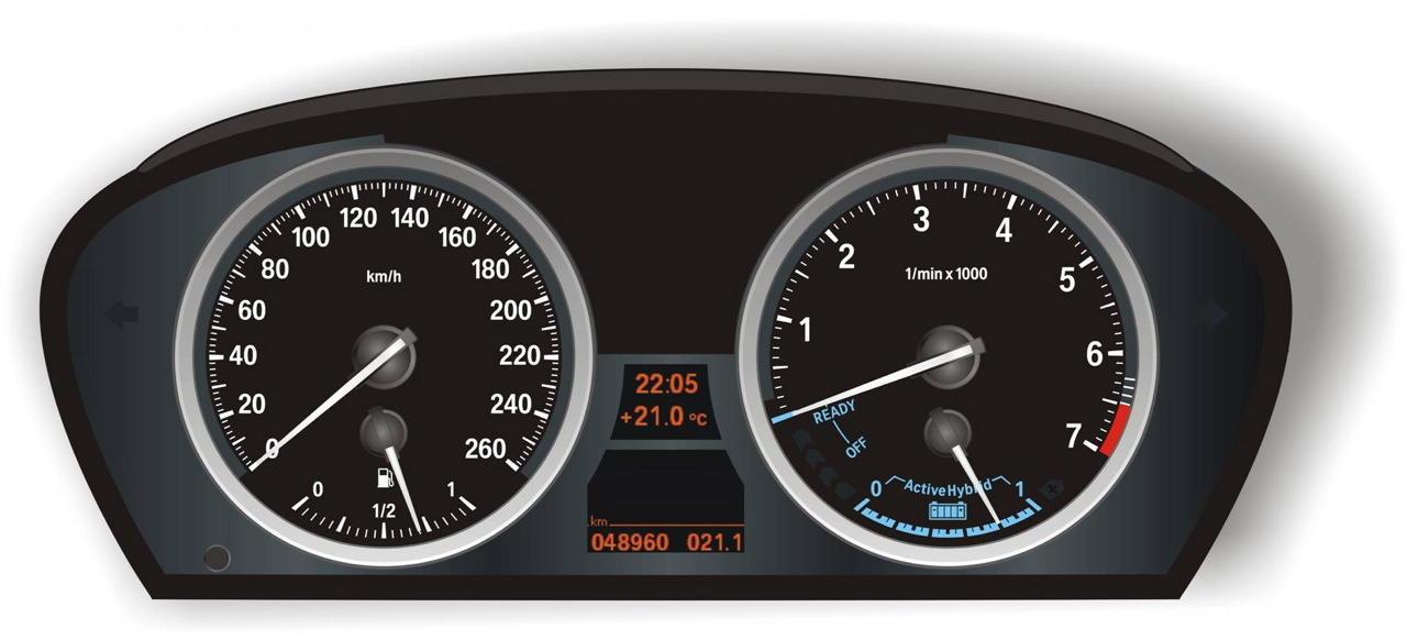 2010 BMW X6 Hybrid Dash Instruments